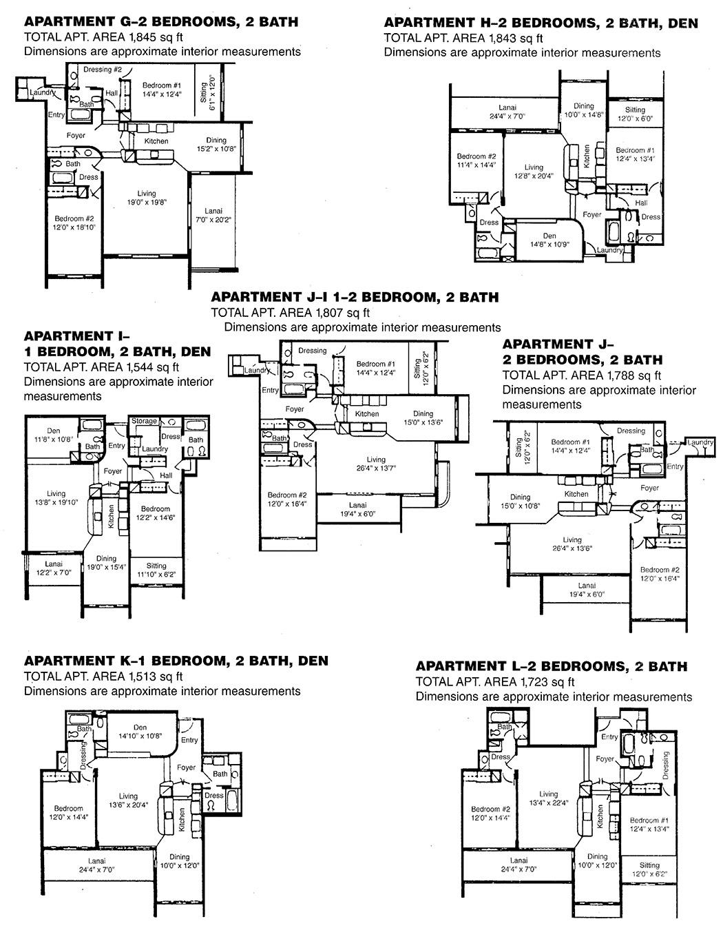 Kaanapali Alii Floorplans