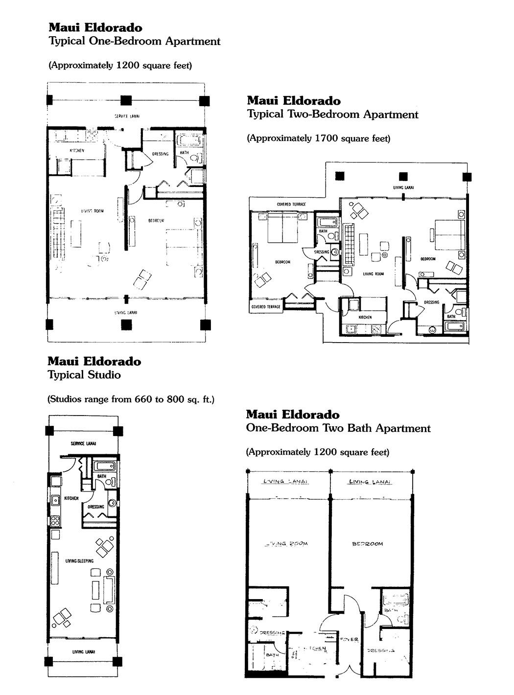 Maui Eldorado Floorplans