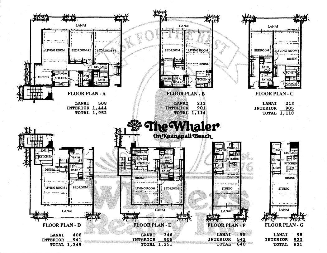 The Whaler Floorplans